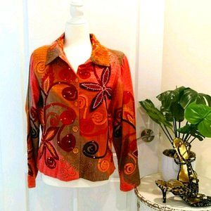 Bohemian Style Multi-Color Jacket Size Small